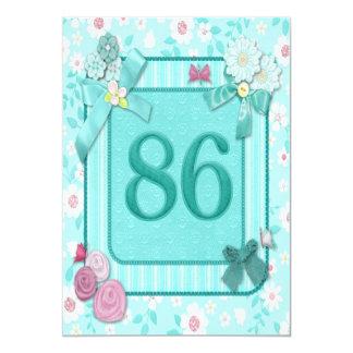 86th birthday party invitation