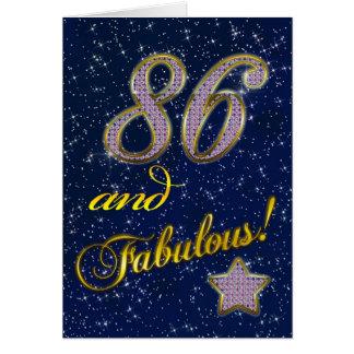 86th Birthday party Invitation Greeting Card