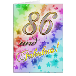 86th Birthday party Invitation Greeting Card