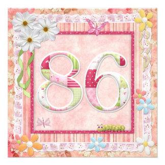 86th birthday party scrapbooking style custom invitations