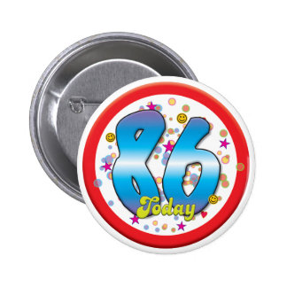86th Birthday Today Pin