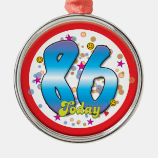86th Birthday Today Christmas Ornaments