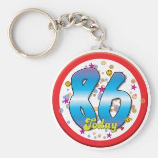 86th Birthday Today Keychains