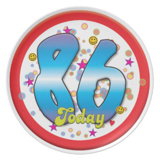 86th Birthday Today Party Plate