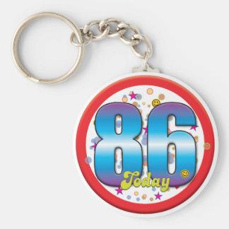 86th Birthday Today v2 Keychain