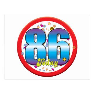 86th Birthday Today v2 Postcard
