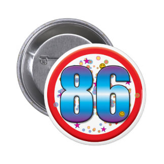 86th Birthday v2 Pin