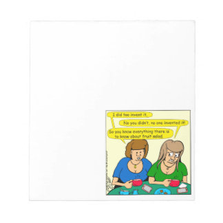 873 Who invented fruit salad cartoon Notepad
