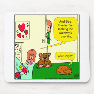 874 Mom's favorite child cartoon Mouse Pad