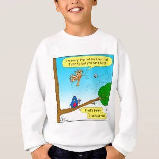 877 can not bird cartoon sweatshirt