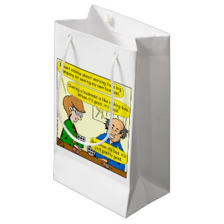 879 Own your own business cartoon Small Gift Bag