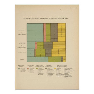 87 Occupations by race, nativity 1900 Poster