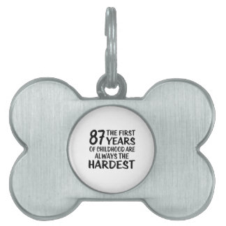 87 The First  Years Birthday Designs Pet Name Tag