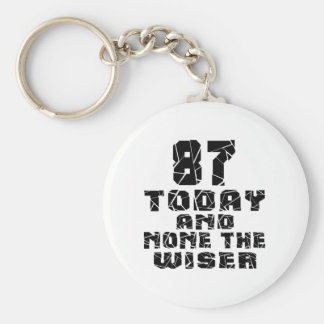 87 Today And None The Wiser Basic Round Button Key Ring