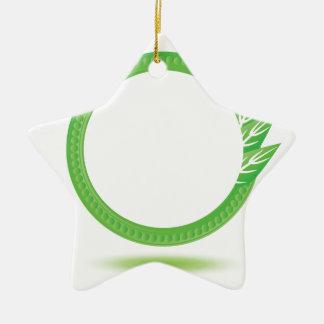 87Greewn Label_rasterized Ceramic Ornament