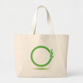 87Greewn Label_rasterized Large Tote Bag