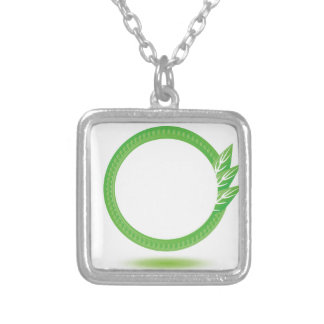 87Greewn Label_rasterized Silver Plated Necklace