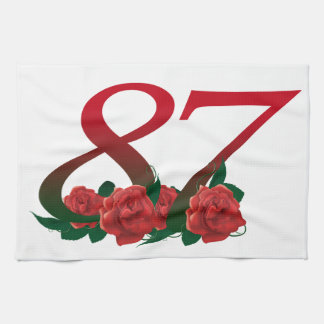 87th Birthday or Number 87 Kitchen Towel