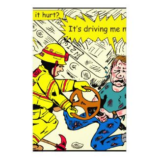 882 Its driving me nuts cartoon Stationery