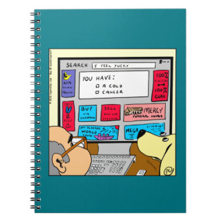 883 Search engine diagnosis cartoon Notebooks