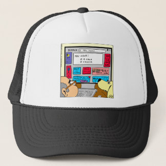 883 Search engine diagnosis cartoon Trucker Hat