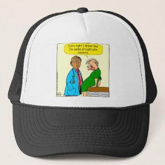 884 Dream I have insomnia cartoon Trucker Hat
