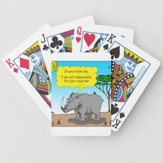 886 rhino tickle cartoon bicycle playing cards