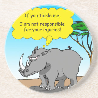 886 rhino tickle cartoon coaster