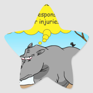 886 rhino tickle cartoon star sticker