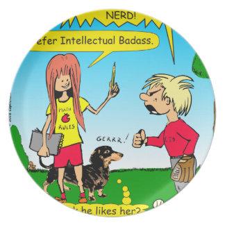 887 nerd wins argument cartoon plate