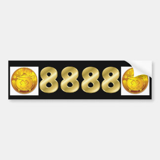 8888 Money Forever License Plate Bumper Sticker