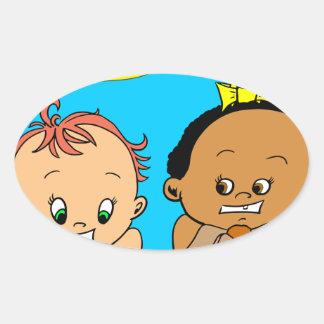 888 As I get older baby cartoon Oval Sticker