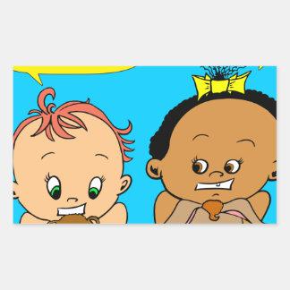 888 As I get older baby cartoon Rectangular Sticker