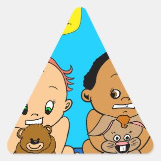 888 As I get older baby cartoon Triangle Sticker