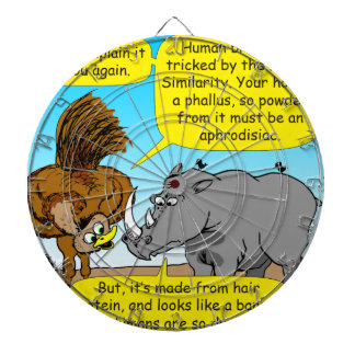889 Rhino phallus cartoon Dartboard