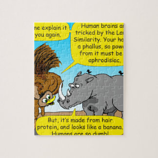 889 Rhino phallus cartoon Jigsaw Puzzle