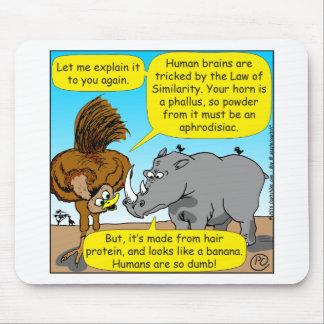 889 Rhino phallus cartoon Mouse Pad