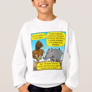 889 Rhino phallus cartoon Sweatshirt