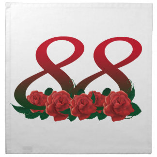 88  88th birthday number napkin