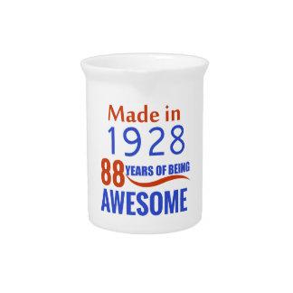 88 birthday design pitcher