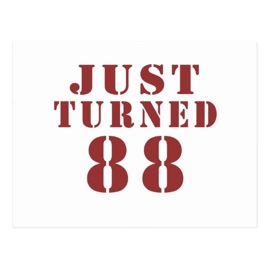 88 Just Turned Birthday Postcard