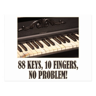 88 Keys, 10 Fingers, No Problem! Postcard