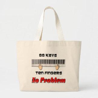 88 Keys Large Tote Bag