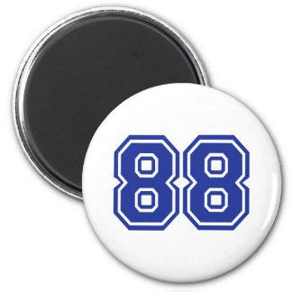 88 - number refrigerator magnet