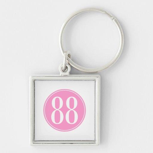 #88 Pink Circle Key Chains