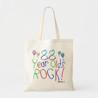 88 Year Olds Rock Canvas Bags