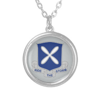 88th Infantry Regiment - Ride The Storm Silver Plated Necklace
