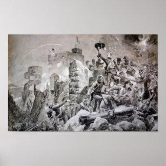 88th Regiment at Badajoz Poster