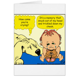 891 Memory tear cartoon Card