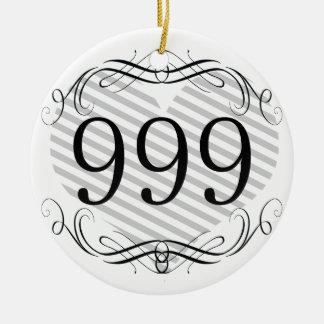 892 Area Code Ornaments